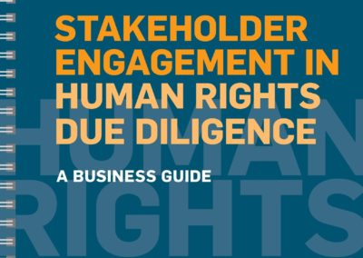 Stakeholder Engagement in Human Rights Due Diligence