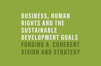 Business, Human Rights and the Sustainable Development Goals: Forging a Coherent Vision and Strategy