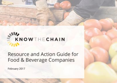 Resource and Action Guide for Food & Beverage Companies