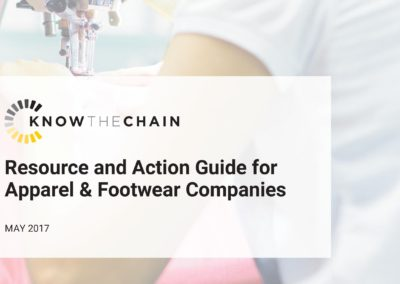 Resource and Action Guide for Apparel & Footwear Companies