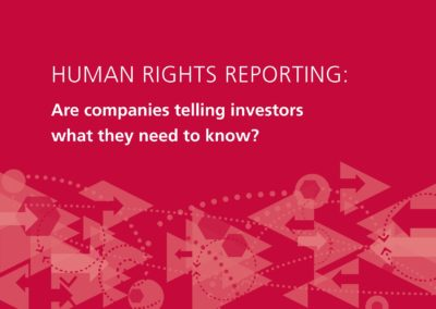 Human Rights Reporting: Are companies telling investors what they need to know?