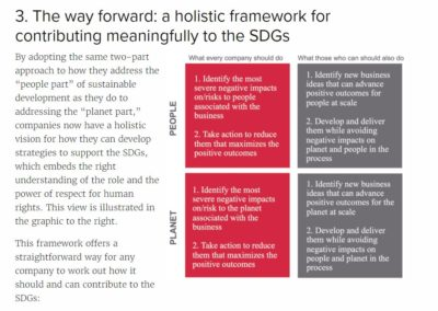 Respect for Human Rights: Creating a Holistic Framework for Business Contributions to the SDGs