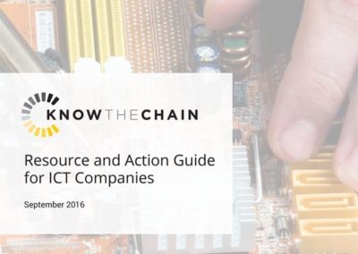 Resource and Action Guide for ICT Companies