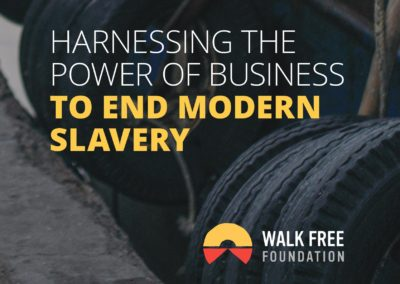 Harnessing the Power of Business to End Modern Slavery
