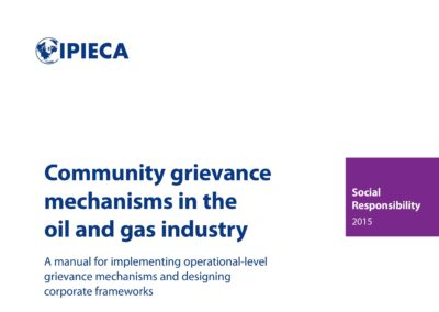 Community grievance mechanisms in the oil and gas industry