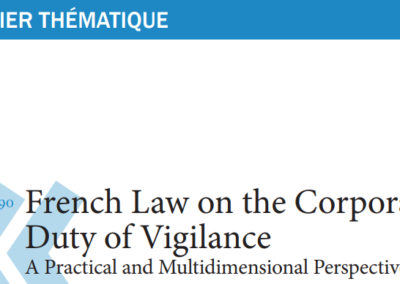 French Law on the Corporate Duty of Vigilance
