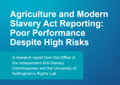 Agriculture and Modern Slavery Act Reporting