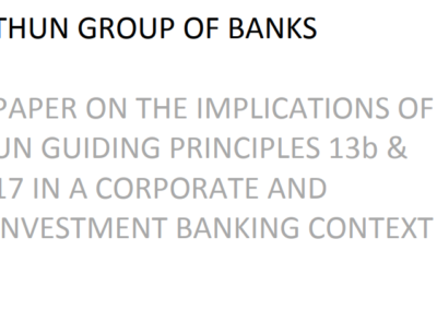 Implications of UNGPs 13b and 17 in a corporate and investment banking context