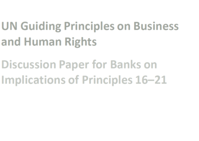 Implications of UN Guiding Principles for Banks