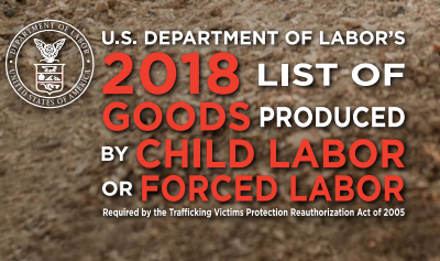 2018 List of Goods Produced by Child Labor or Forced Labor