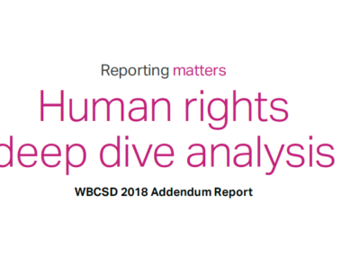 Reporting Matters 2018: Human Rights deep dive