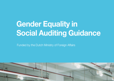 Gender Equality in Social Auditing Guidance