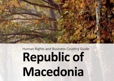 Human Rights and Business Country Guide Republic of Macedonia