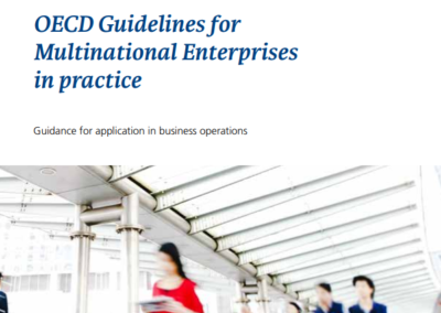 OECD Guidelines for Multinational Enterprises in practice