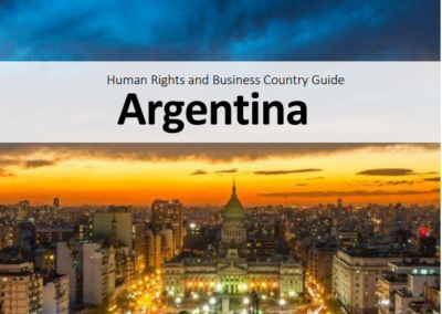 Human Rights and Business Country Guide Argentina