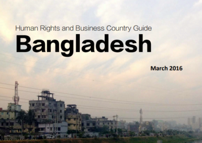 Human Rights and Business Country Guide Bangladesh