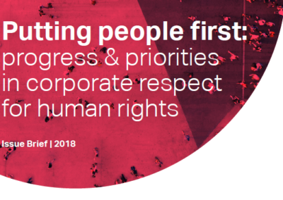 Putting people first: progress & priorities in corporate respect for human rights
