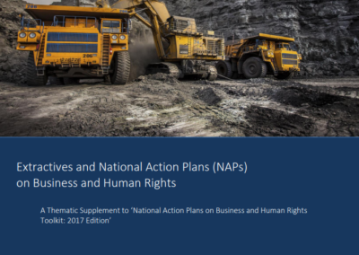 Extractives and National Action Plans (NAPs) on Business and Human Rights