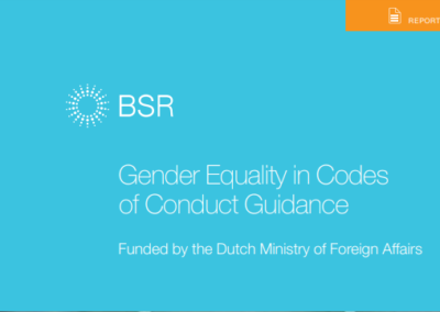 Gender Equality in Codes of Conduct Guidance