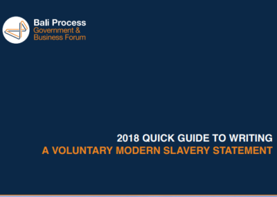 Quick guide to writing a voluntary modern slavery statement