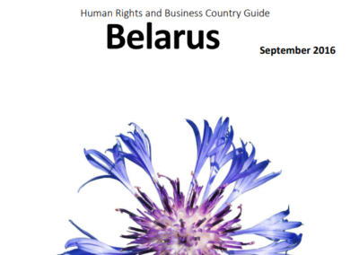 Human Rights and Business Country Guide Belarus