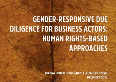 Gender-responsive due diligence for business actors: human rights-based approaches