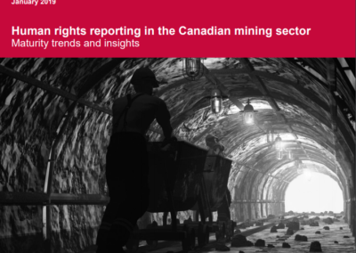 Human rights reporting in the Canadian mining sector – Maturity trends and insights