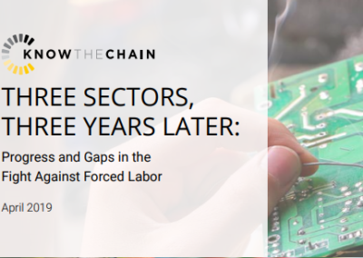 Three Sectors, Three Years Later: Progress and Gaps in the Fight Against Forced Labor