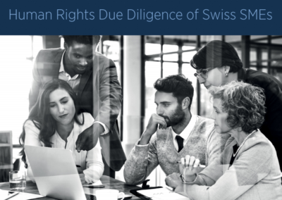 Making success sustainable through responsible business conduct: Human rights due diligence for Swiss SMEs