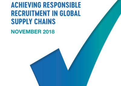 Achieving Responsible Recruitment in Global Supply Chains