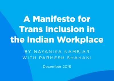 A Manifesto for Trans Inclusion in the Indian Workplace