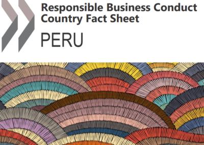 Responsible Business Conduct – Country Fact Sheet: Peru