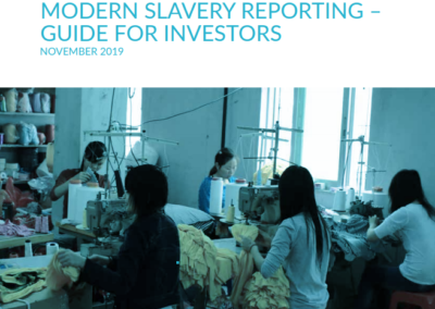 Modern Slavery Reporting – Guide for Investors