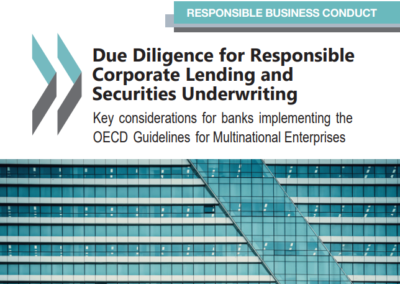 Due Diligence for Responsible Corporate Lending and Securities Underwriting