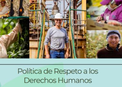 Política de Respeto a los Derechos Humanos y Manual de Buenas Prácticas en el Sector Agro