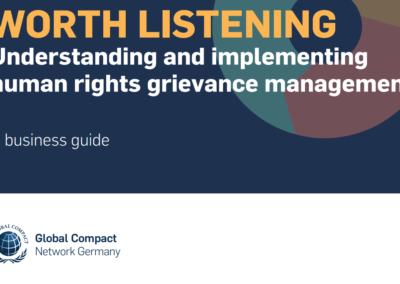 Worth Listening – Understanding and implementing human rights grievance management