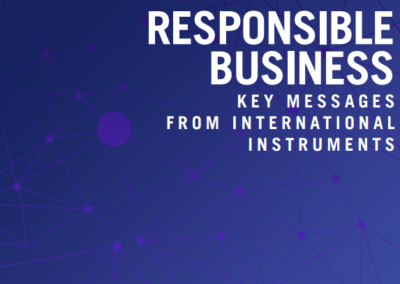 Responsible Business: Key messages from international instruments