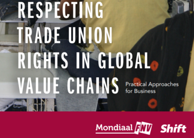 Respecting Trade Union Rights in Global Value Chains