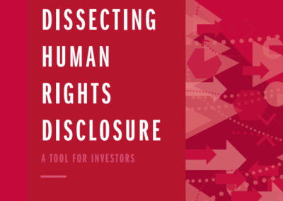 Dissecting Human Rights Disclosure: Engagement with vulnerable stakeholders