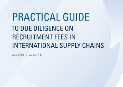 Practical Guide to Due Diligence on Recruitment Fees in International Supply Chains