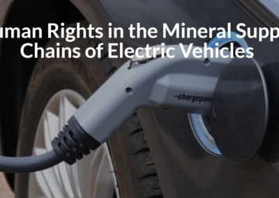Human Rights in the Mineral Supply Chains of Electric Vehicles