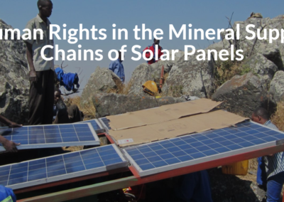 Human Rights in the Mineral Supply Chains of Solar Panels