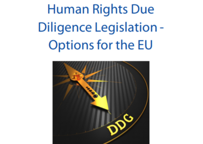 Human Rights Due Diligence Legislation – Options for the EU