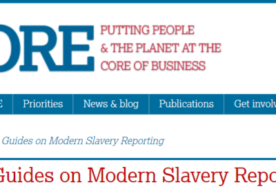 Short Guides on Modern Slavery Reporting (UK)