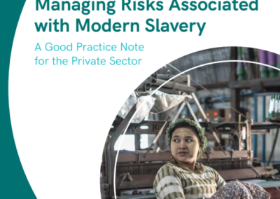 Managing Risks Associated with Modern Slavery
