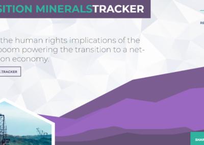 Transition Minerals Tracker
