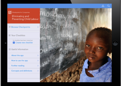 Eliminating and Preventing Child Labour: Checkpoints app