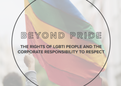 Beyond Pride: The Rights of LGBTI People and the Corporate Responsibility to Respect