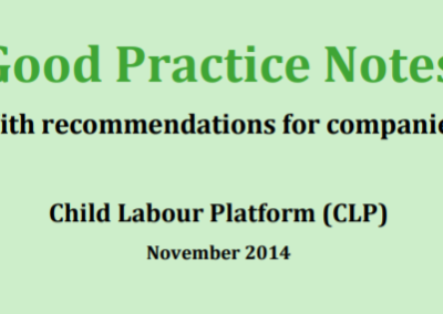 Good Practice Notes – with recommendations for companies