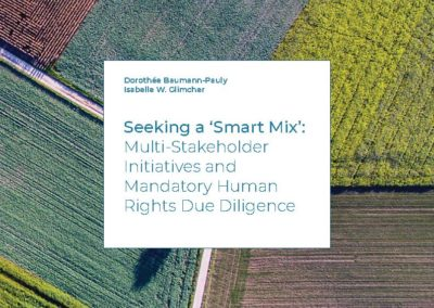 Seeking a 'Smart Mix': Multi-Stakeholder Initiatives and Mandatory Human Rights Due Diligence
